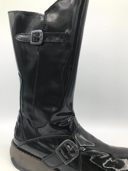 Mes 2 Black Patent Boot - Imeldas Shoes Norwich