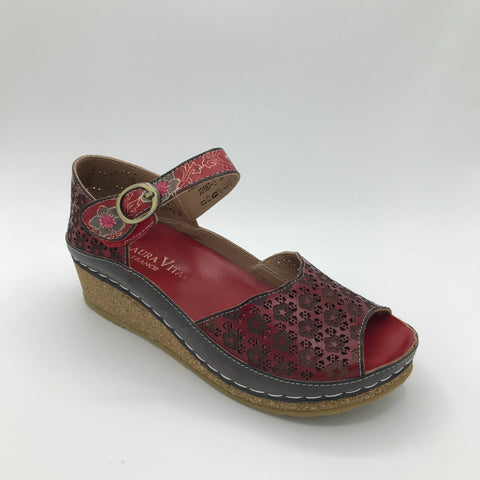 Laura Vita Facscineo Rouge Sandal - Imeldas Shoes Norwich