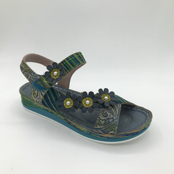 Laura Vita Burcelo Blue - Imeldas Shoes Norwich
