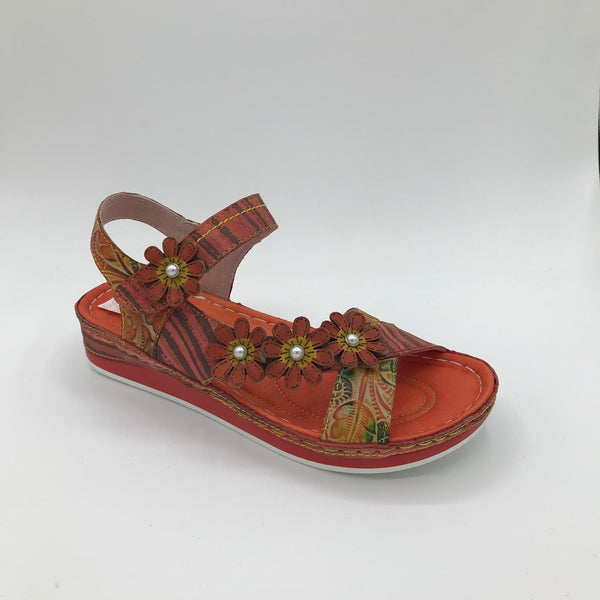 Laura Vita Burcelo Red - Imeldas Shoes Norwich