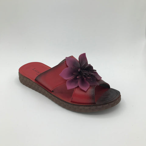 Laura Vita Hezco Red Sandal - Imeldas Shoes Norwich