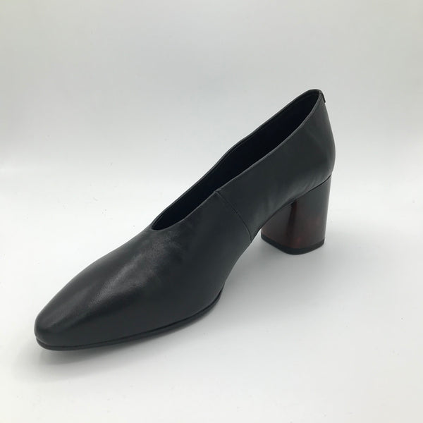 Vagabond Eve Black Heeled Pump - Imeldas Shoes Norwich