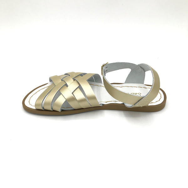 Retro Gold Sandals - Imeldas Shoes Norwich