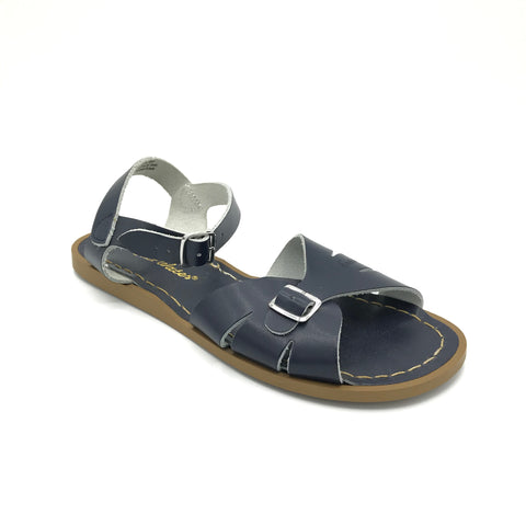 Navy Classic Sandals - Imeldas Shoes Norwich