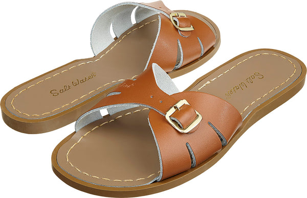 Salt Water Classic Slide Tan - Imeldas Shoes Norwich