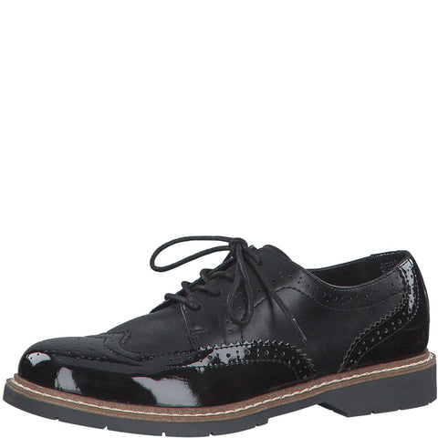 S Oliver Womens Shoe 23604 Black - Imeldas Shoes Norwich