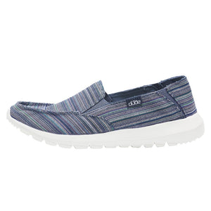Dude Ava Blue Ibiza Slip on/Mule