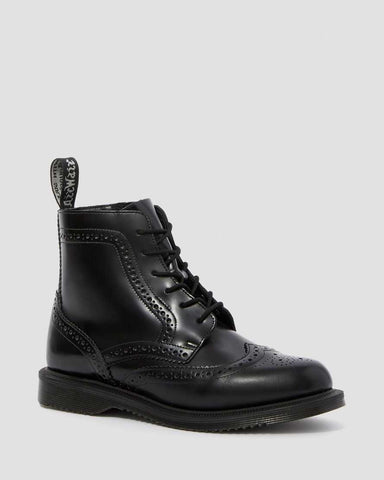 DM Delphine Black Lace Up Boot