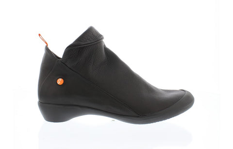 Softinos Farah black zip ankle boot - Imeldas Shoes Norwich