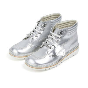 Kick Throwback Metallic Silver - Imeldas Shoes Norwich