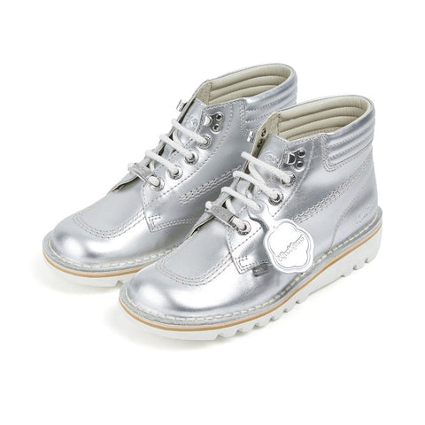 Kick Throwback Metallic Silver
