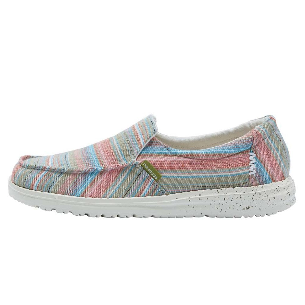 Dude Misty Chambray Stripe Slip On