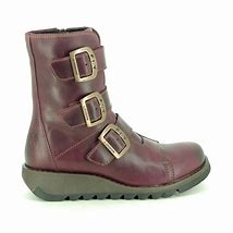 Fly London Scop purple buckle ankle boot