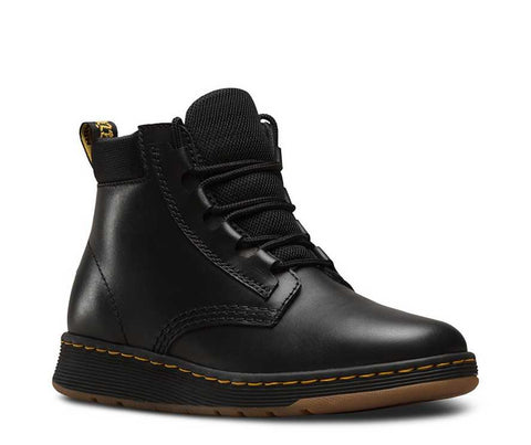 DM Telkes Black Leather Lace Up