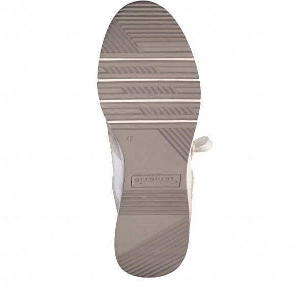 Tamaris 1-1-23703-26 White Comb Wedge Trainer