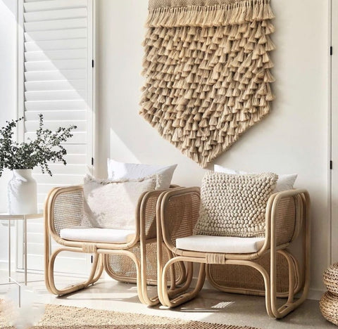 rattan chairs, outdoor living decor