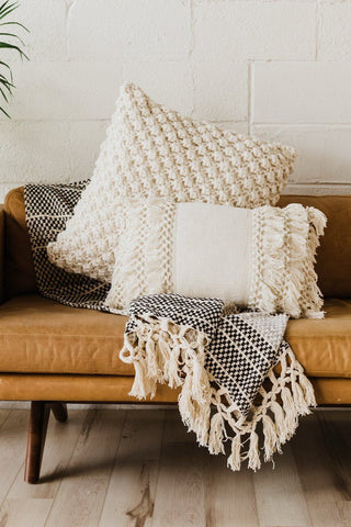Throw pillows and blankets, spring home updates
