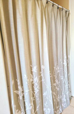 floral shower curtain, spring shower curtain