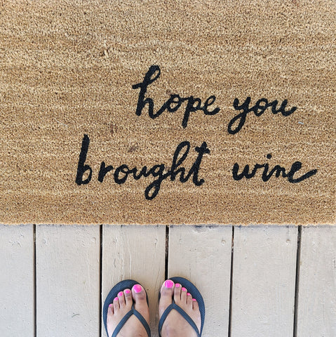 welcome mat, funny welcome mat, spring updates