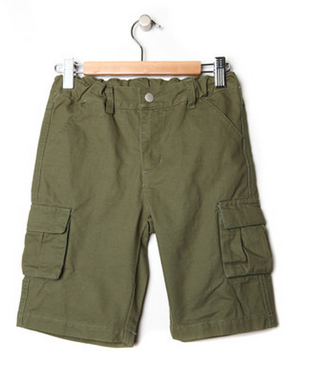 Boys Army Green Cargo Shorts