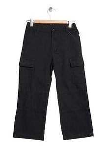 Boys Blue Cargo Pants 100% Cotton Canvas Hard wearing Boys Cargo Pants