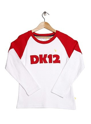 Red Layered Long Sleeve Boys Top