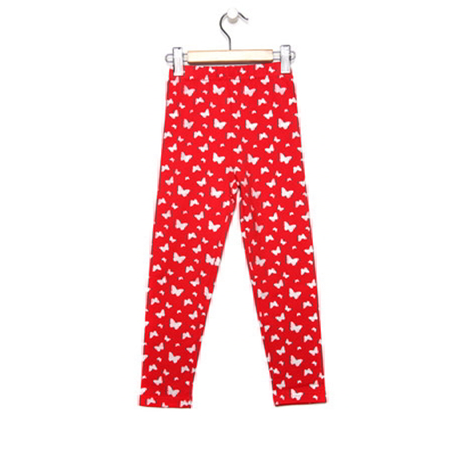 Red and Silver Butterfly Glitter Leggings