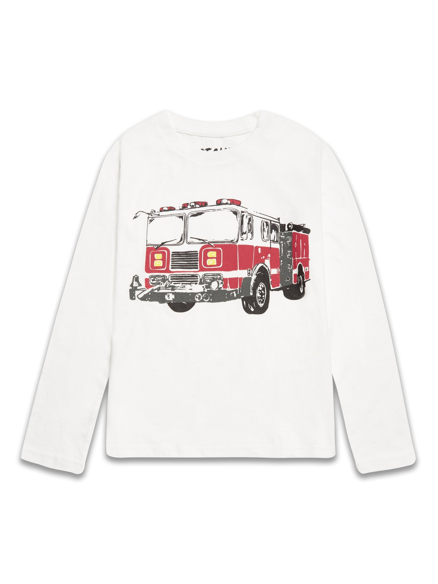 Riot Club Boys Fire Truck Long Sleeve Top