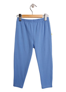 3/4 Length Light Blue Girls Leggings