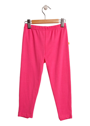 3/4 Length Pink Girls Leggings