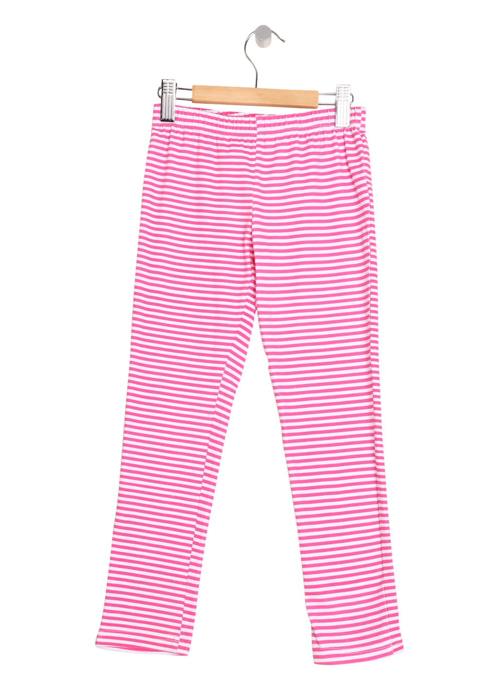 Pink Stripe Girls Leggings
