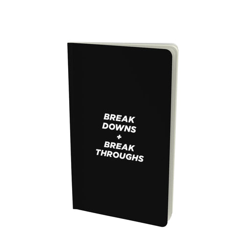 Breakdowns + throughs, notebook (5.25x8.75)