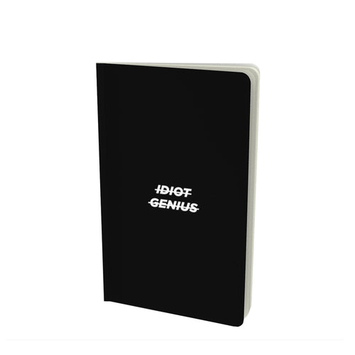 Idiot/genius, notebook (5.25x8.75)