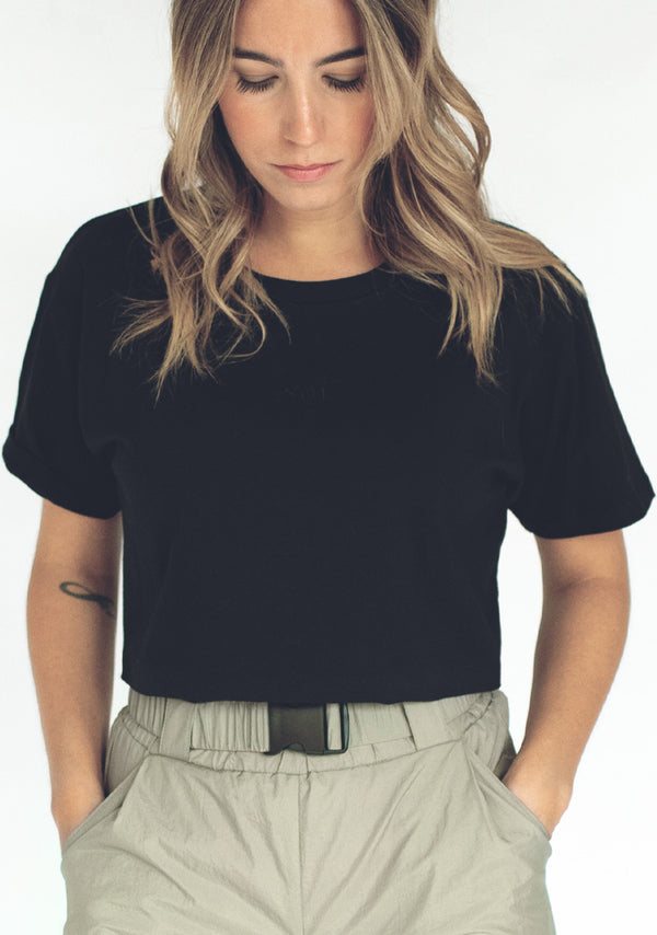 Crop-top Jeanne brodé .soi