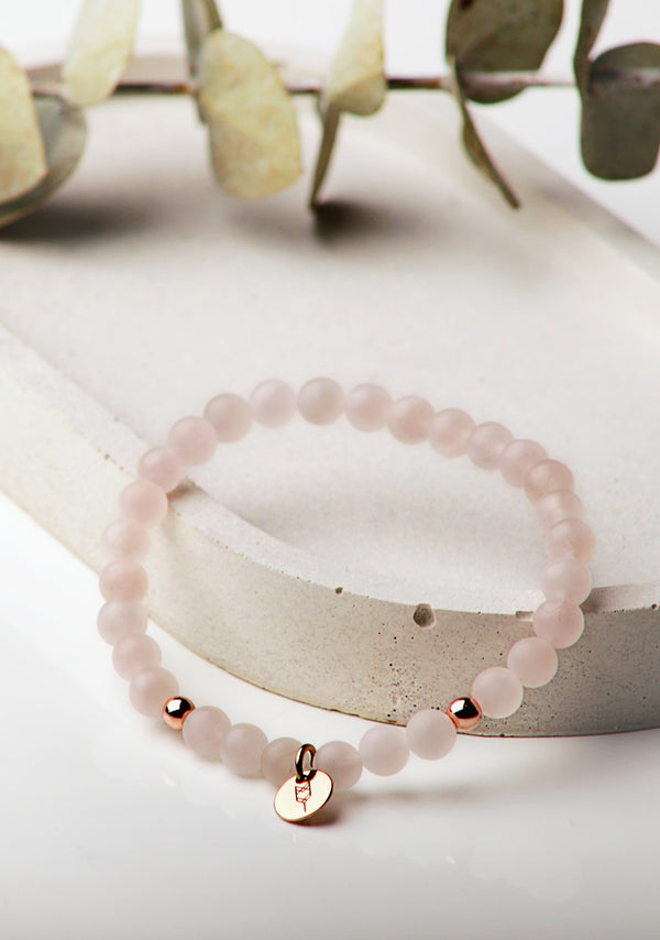 Bracelet Quartz Rose - Rose or