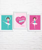 Ballerina Nursery Art Set of 3