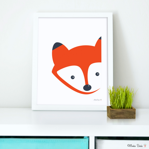 Fox Nursery Art Print
