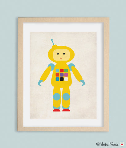 Color RoBot Nursery Art Print