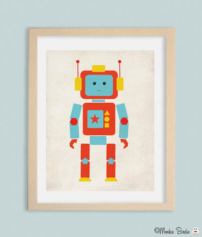 Shape RoBot Nursery Art Print