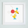 Mouse & Cheese Nursery Art Print