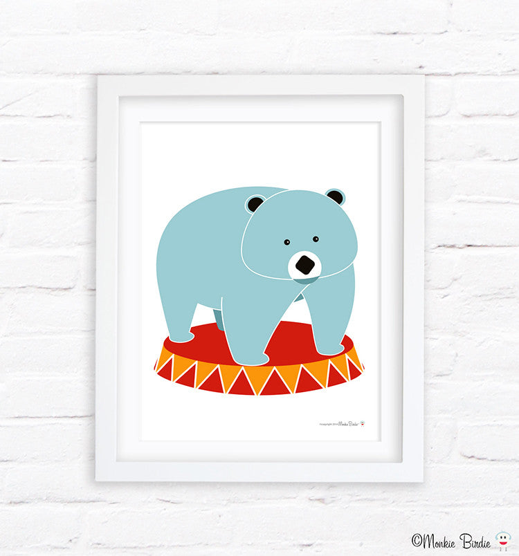 Bear Nursery Art Print