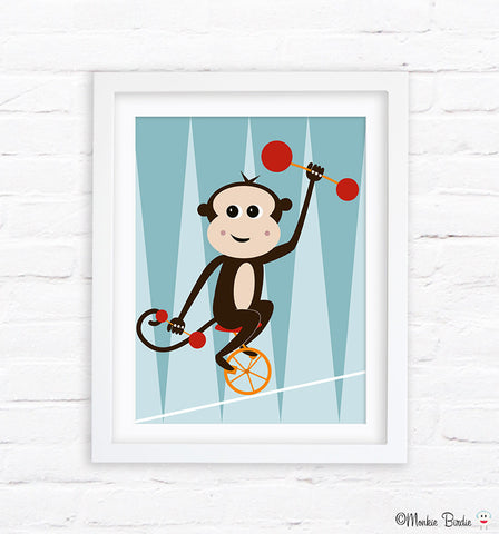 Monkey Nursery Art Print