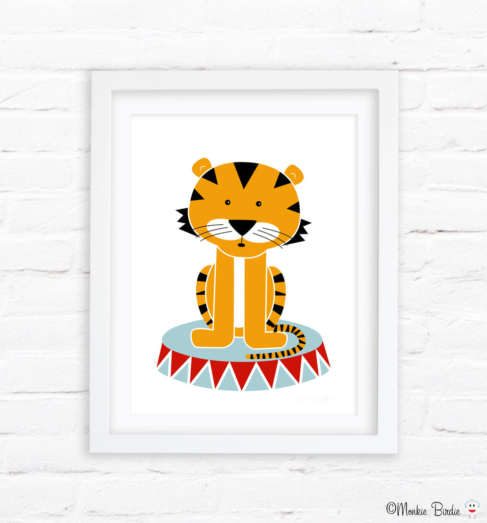 Tiger Nursery Art Print