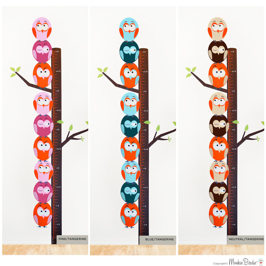 Growth chart fabric wall decal stacked birds boy monkiebirdie growth chart fabric wall decal stacked birds boy geenschuldenfo Image collections