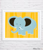 Elephant & Bird Nursery Art Print