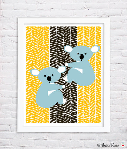Koala Bears Nursery Art Print