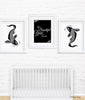 Black and White Koi Fish-Downstream Nursery Art Print