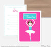 Ballerina Birthday Invites/ Thank You- Set of 5 each
