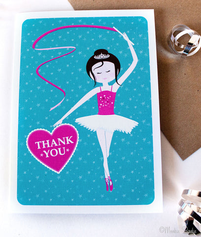 Ballerina Birthday Thank You- Set of 10