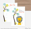 Jungle Safari Birthday Invites/ Thank You Set of 5 each